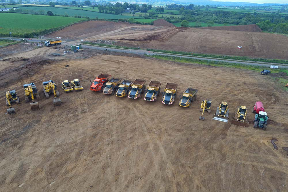 Range of plant hire in Ballyclare