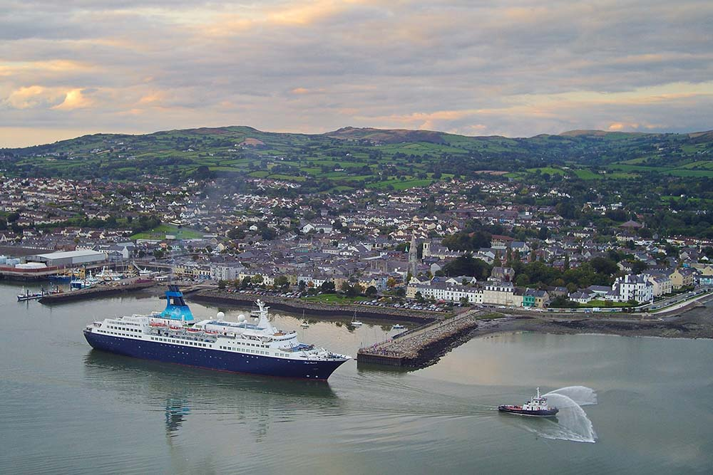 Cruise ship docked at Warrenpoint